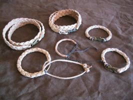 Braided Leather Bands by passbyguy