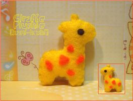 Giraffe Plushie by littlepaperforest