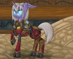 Commission: Ponified Draenei Death Knight by ambergerr