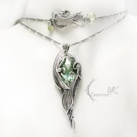 LEENTURVILH silver green amethyst and prehnite by LUNARIEEN