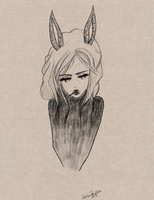 Rabbit Girl Drawing '12 by beyourpet