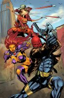 RedHood and the outlaws by Javilaparra