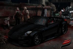 Nissan 350-Z Halloween by FenixClz013