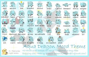Aqua Dragon Mood Theme by princess-phoenix