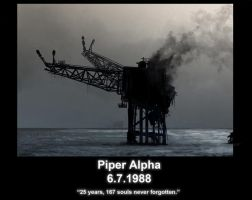 Piper Alpha - 25 years on... by Jimtheartist