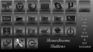 Monochrome Buttons - Icons for the Dock by rvc-2011