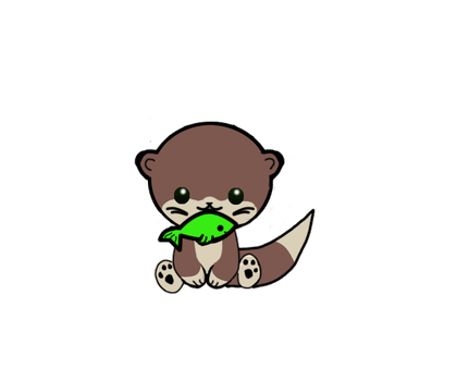 chibi otter by HarleyQuinne