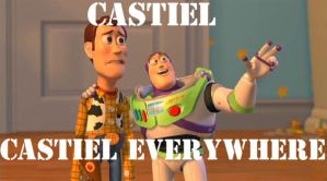 Castiel everywhere by lilyjamesship
