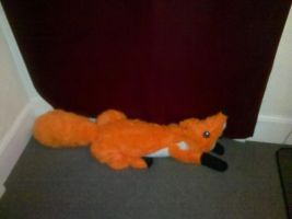 Handmade fox draught excluder! by vulpinedesigns