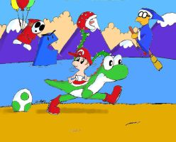 Month of Mario: Yoshi'sIsland by DrFurball