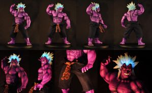 Oni 1/4 scale mixed media compiled by chiseltown