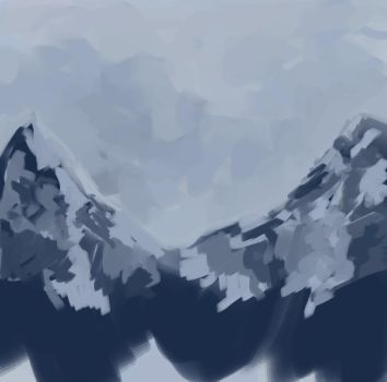 Sept '09 - Mtn. Sketch by Evedell