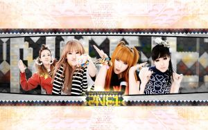 2NE1 Don't Stop The Music Wall by textureclad