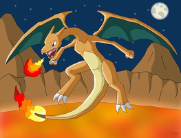 Charizard, the Fiery King of Kanto! by SuperSonicGX
