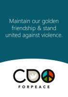 Cdo for Peace Poster by blue2x
