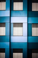 architecture in blue III by RaMaKrAmA