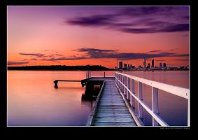Jetty Sunset by Furiousxr