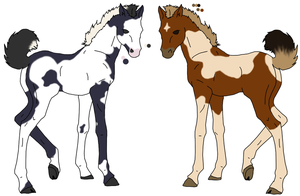 Paint Foals - AVAILABLE by Pink-Monsterz