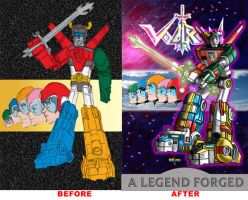 Voltron Before and After by NelsonRibeiro