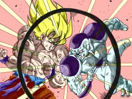 5000 Hits - Battle in Namek: Goku vs Freeza by ssjgogeto
