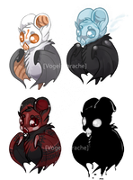 Chibi Bats- Hallow group by VogelSprache