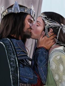 Aragorn and Arwen - Lord of the Rings by Saryetta86