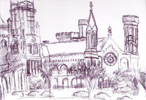 Smithsonian Castle Sketch by King-Hauken