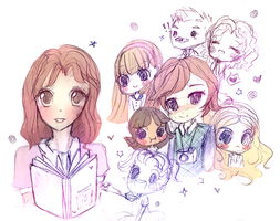Dork Diaries Sketches by mochatchi