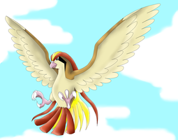 Pidgeot preparing to attack by phoenixn91