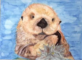 Sea Otter With Seaweed-Thingy by NinjaGrifon