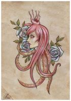 Tentacles and roses by RayneColdkiss