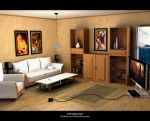 The living room. done by exeles