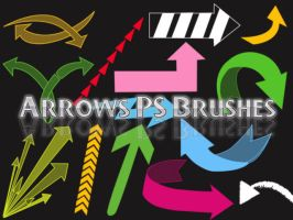 Arrows Photoshop Brushes by petermarge