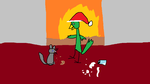 XMas Duck for FallingSilver756 by GoldenAltaira
