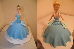 Cinderella doll birthday cake by ayarel