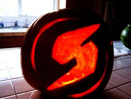 Metroid Logo Pumpkin by BassOwnage88