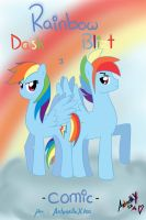 RainbowDash and RainbowBlizt Comic - Portada by AntonellaX100