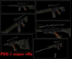 PSG-1 sniper rifle by DennisH2010
