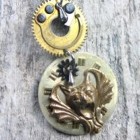 The Gargoyle Steampunk Jewelry by clockwork-zero