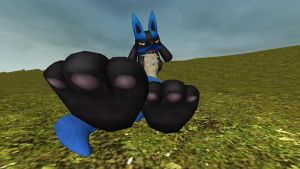 New Lucario paw tease 1 by hectorlongshot
