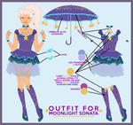 Contest Entry: Outfit for Moonlight Sonata by kinga-saiyans