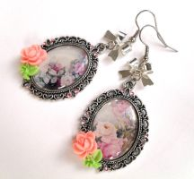 Earrings Romantic Rose Garden by Jin-ju