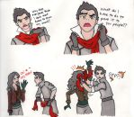 Mako Lets Asami Touch His Scarf by 4Fysh