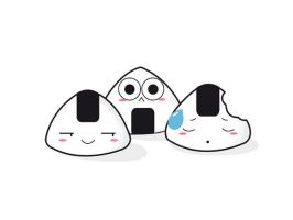 Friends Onigiri Vector by Rakechan
