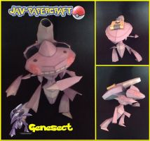 Genesect papercraft by javierini