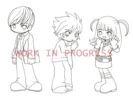 WIP - Death Note Chibis by superdonut