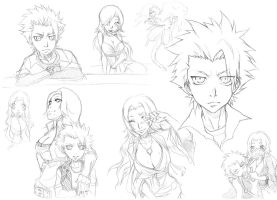 BLEACH - scribbles xD by elawra