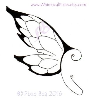Dragon Scales- ear wings or back wings by WhimsicalPixies