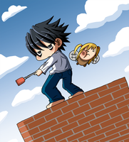 L and The Misa Pest by VooDooDollMaster