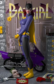 Batgirl of Burnside 'Teenage Bedroom Heroines' by DevilishlyCreative
